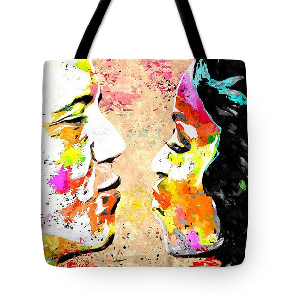 Barack And Michelle  Tote Bag by Daniel Janda