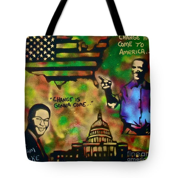 Barack And Sam Cooke Tote Bag by Tony B Conscious