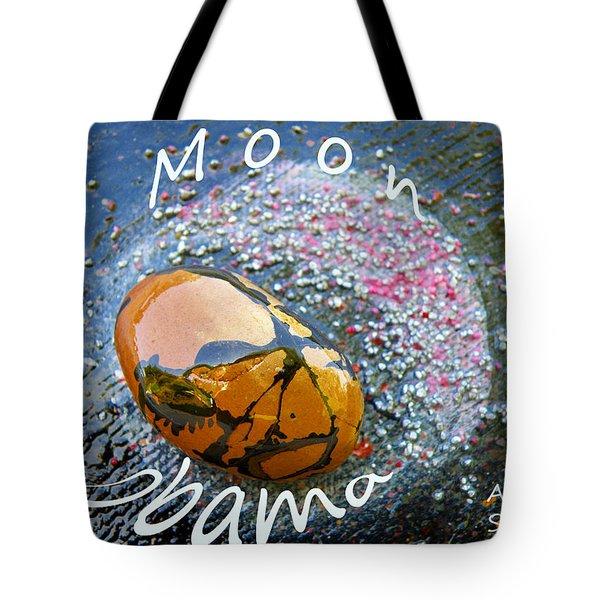 Barack Obama Moon Tote Bag by Augusta Stylianou