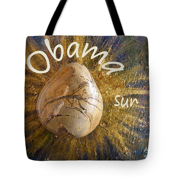 Barack Obama Sun Tote Bag by Augusta Stylianou