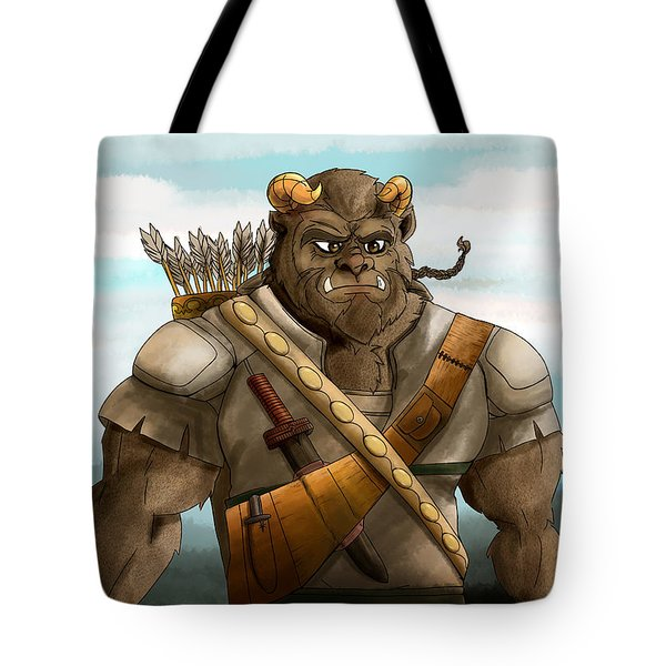 Tote Bag featuring the painting Baragh The Hoargg Warrior by Reynold Jay