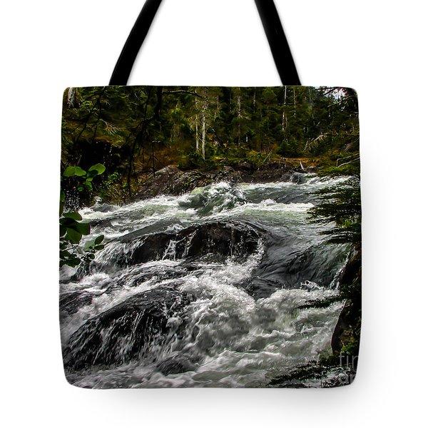 Baranof River Tote Bag by Robert Bales