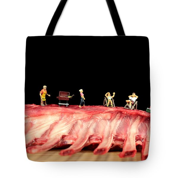 Barbecue On Lamb Ribs Tote Bag by Paul Ge