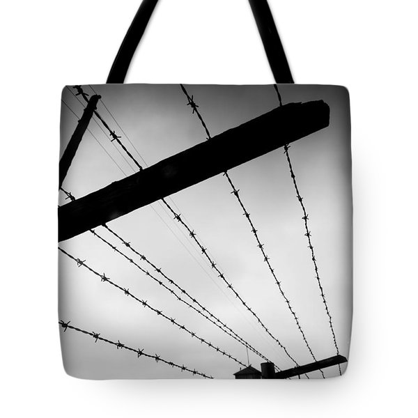 Barbed Wire Fence Tote Bag by Michal Bednarek