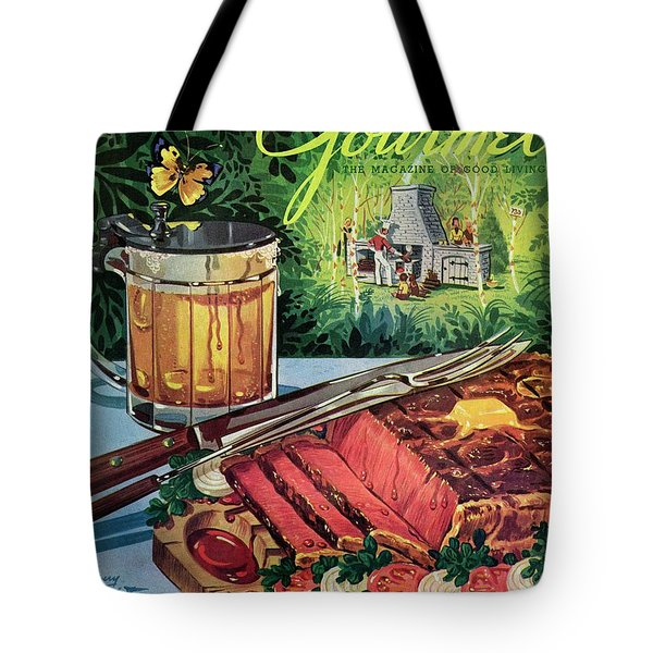 Barbeque Meat And A Mug Of Beer Tote Bag