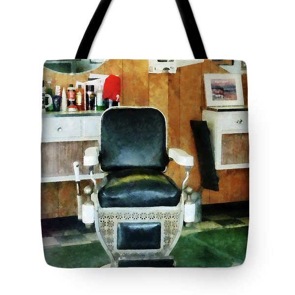 Barber - Barber Chair Front View Tote Bag by Susan Savad