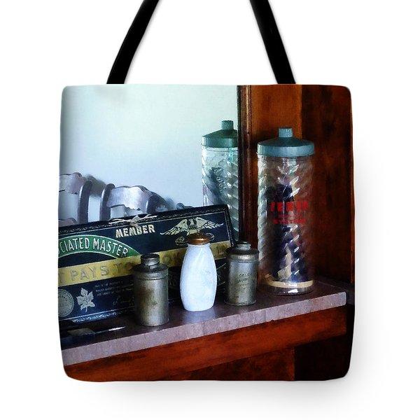 Barber - Barber Supplies Tote Bag by Susan Savad