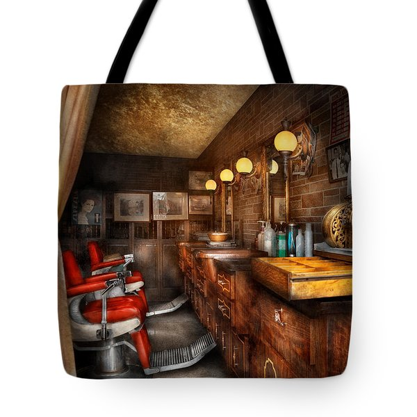 Barber - Closed On Sundays Tote Bag by Mike Savad