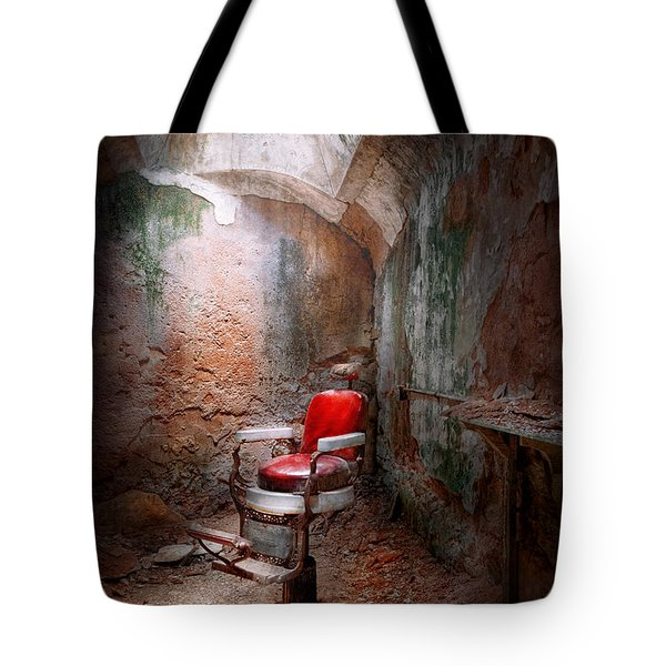 Barber - Eastern State Penitentiary - Remembering My Last Haircut  Tote Bag by Mike Savad