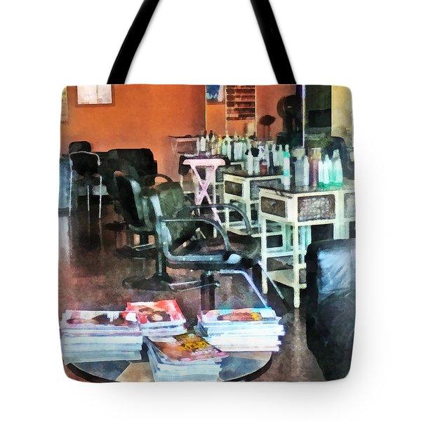 Barber - Hair Salon Tote Bag by Susan Savad