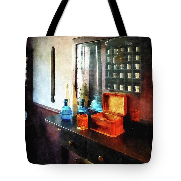 Barber - Hair Tonic And Shaving Mugs Tote Bag