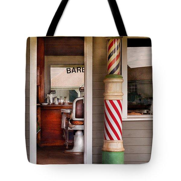 Barber - I Need A Hair Cut Tote Bag by Mike Savad