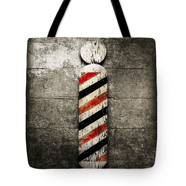 Barber Pole Selective Color Tote Bag