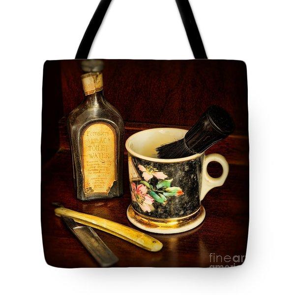 Barber - Shaving Mug And Toilet Water Tote Bag by Paul Ward