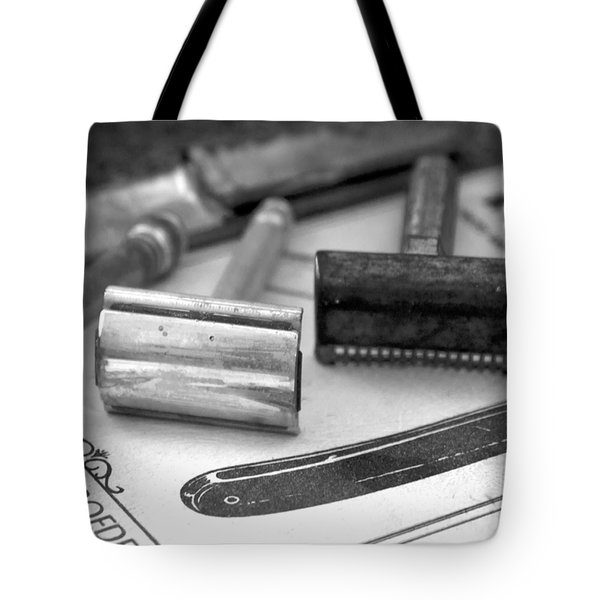 Barber Shop 20 Bw Tote Bag