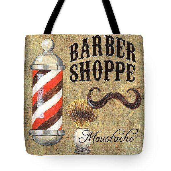 Barber Shoppe 1 Tote Bag by Debbie DeWitt