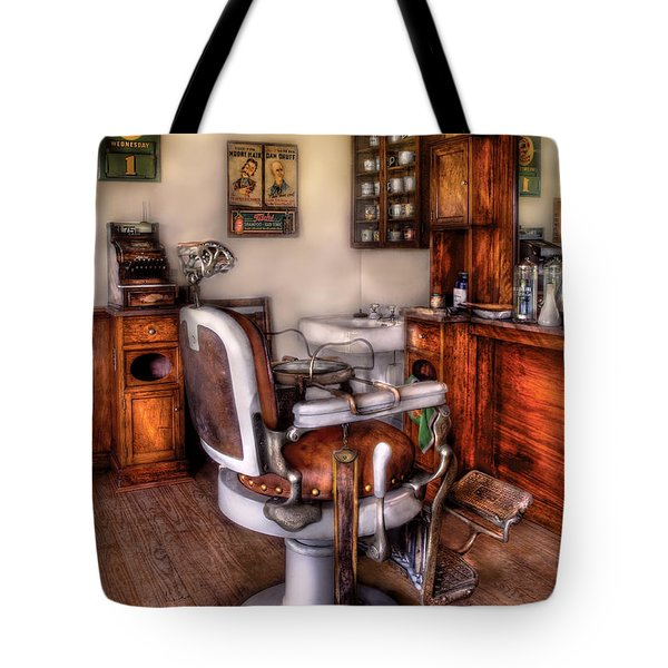 Barber - The Barber Chair Tote Bag
