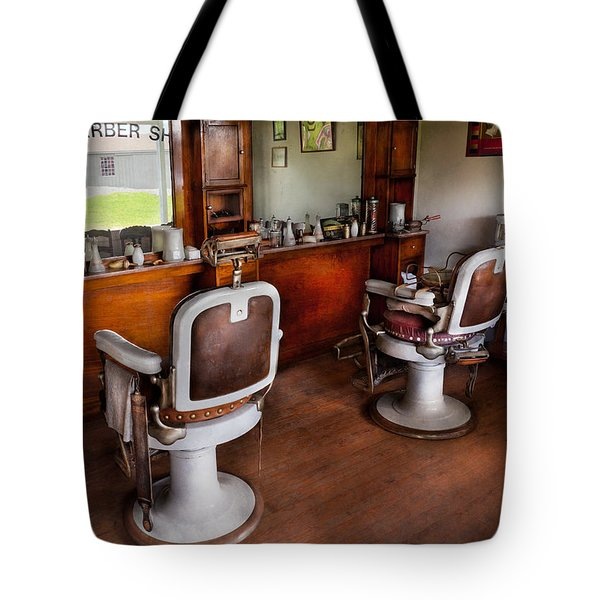 Barber - The Hair Stylist Tote Bag by Mike Savad