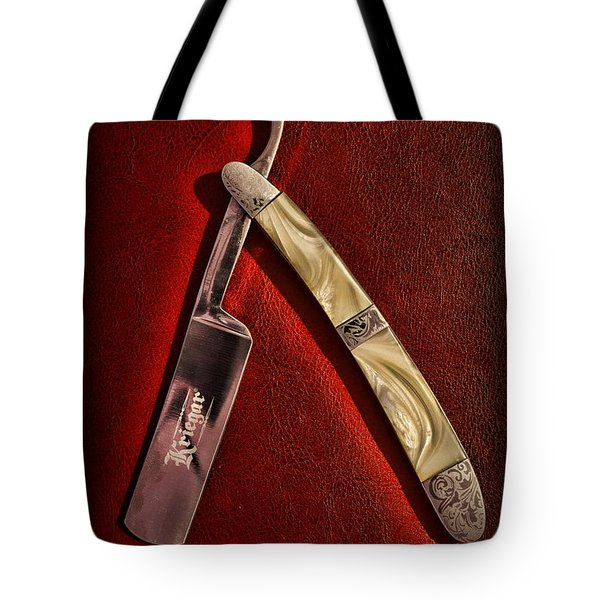 Barber - The Straight Edge Tote Bag by Paul Ward