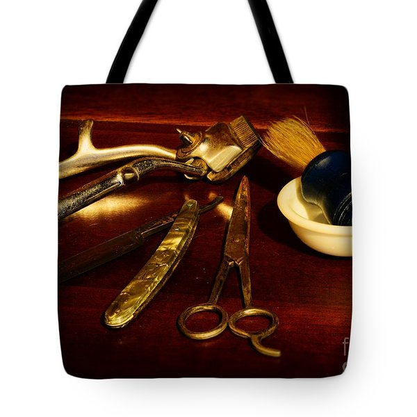 Barber - Things In A Barber Shop Tote Bag by Paul Ward