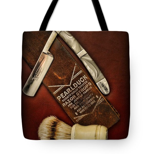 Barber - Tools For A Close Shave  Tote Bag by Paul Ward