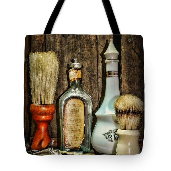 Barber - Vintage Barber Bottles Tote Bag by Paul Ward