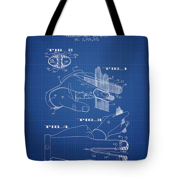 Barbers Glove Patent From 1975 - Blueprint Tote Bag