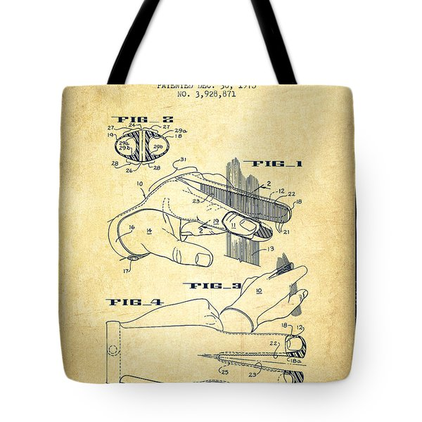 Barbers Glove Patent From 1975 - Vintage Tote Bag