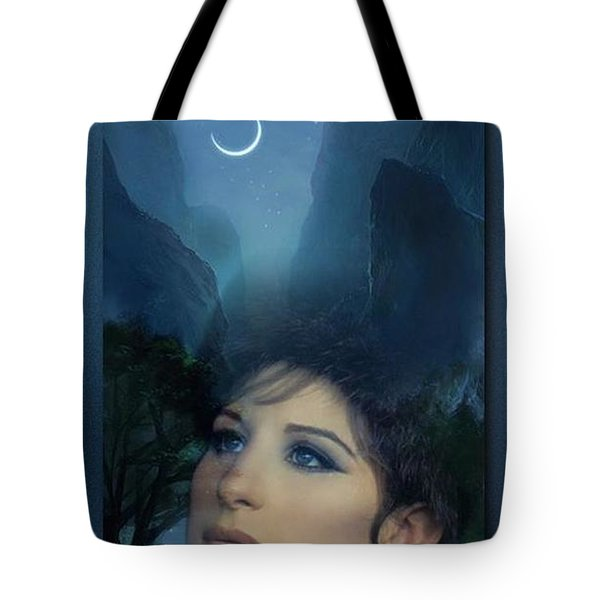 Barbra's Smiling Moon Tote Bag