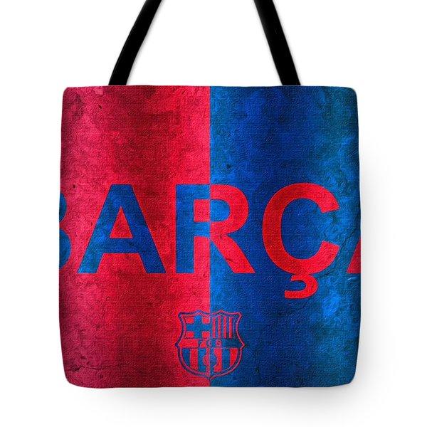 Barcelona Football Club Poster Tote Bag