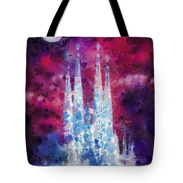 Barcelona Night Tote Bag by Mo T