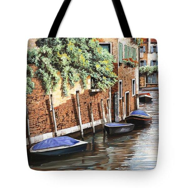 Barche A Venezia Tote Bag by Guido Borelli