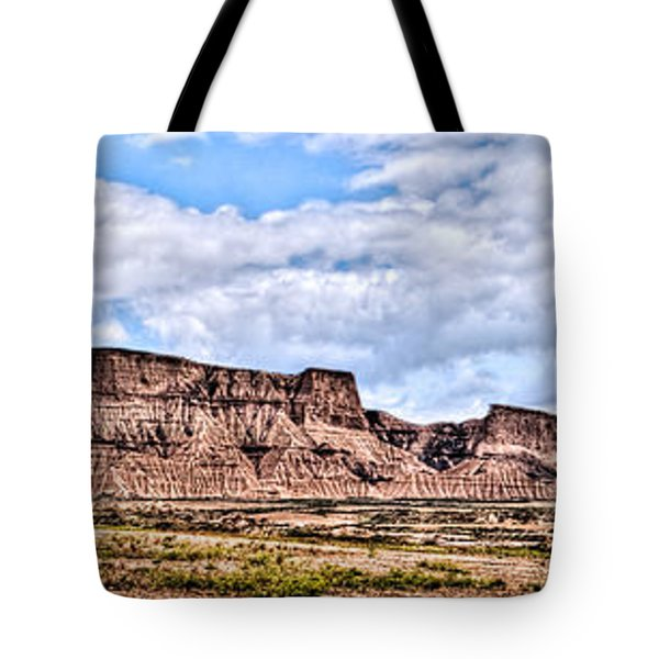 Bardenas Desert Panorama 1 Tote Bag