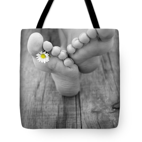 Barefoot Tote Bag by Aged Pixel