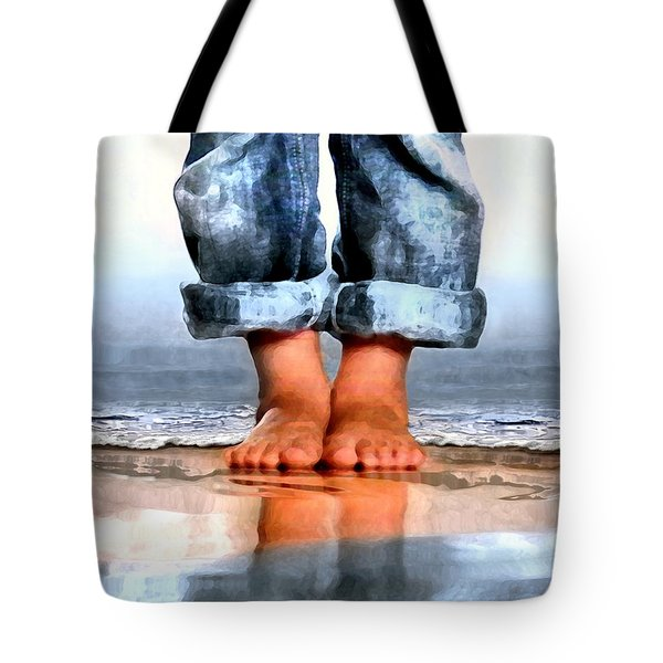 Barefoot Boy   Tote Bag by Dale   Ford