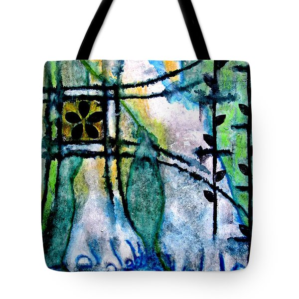 Barefoot In The Garden Tote Bag