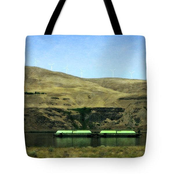 Barges On The Columbia Tote Bag