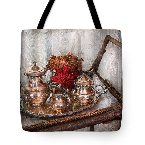 Barista - Tea Set - Morning Tea  Tote Bag by Mike Savad