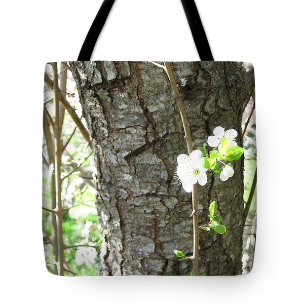 Bark And Blossoms Tote Bag