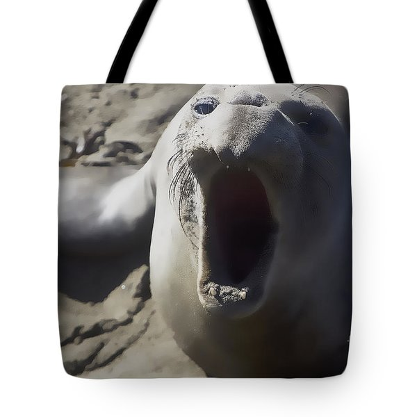Barking Elephant Seal Tote Bag by Rich Collins