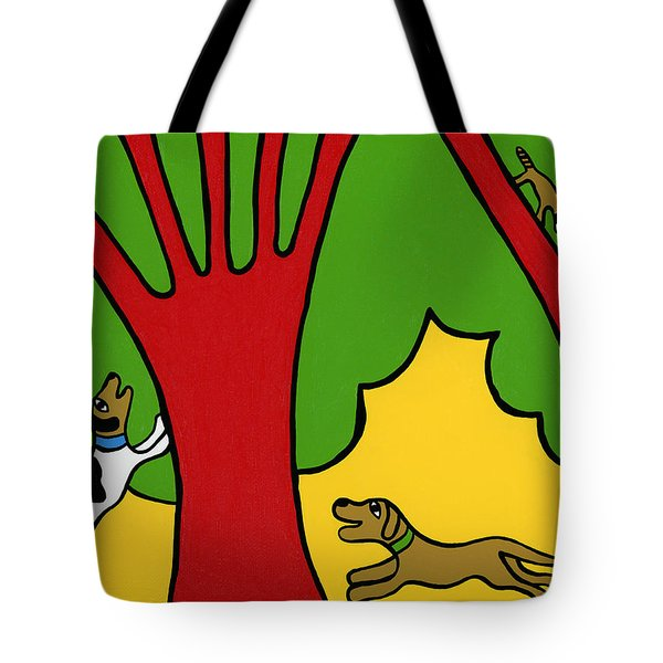 Barking Up The Wrong Tree Tote Bag