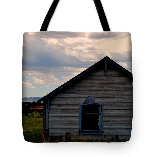 Tote Bag featuring the photograph Barn And Tractor by Matt Harang