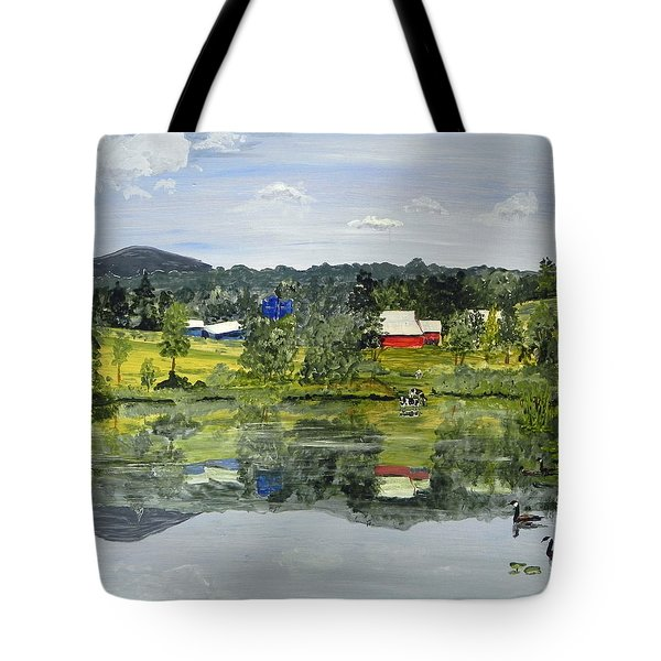 Barn At Little Elk Lake Tote Bag