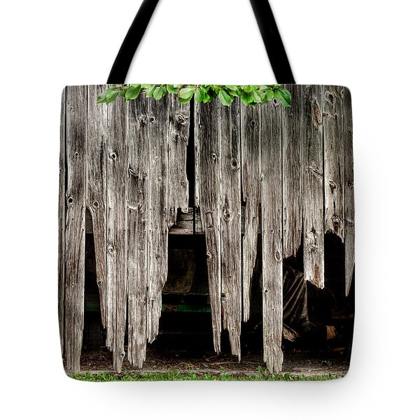 Barn Boards - Rustic Decor Tote Bag by Gary Heller