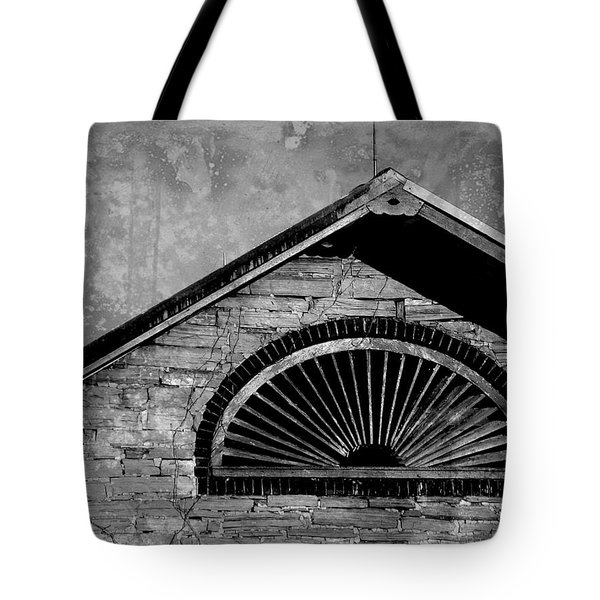 Barn Detail - Black And White Tote Bag by Joseph Skompski