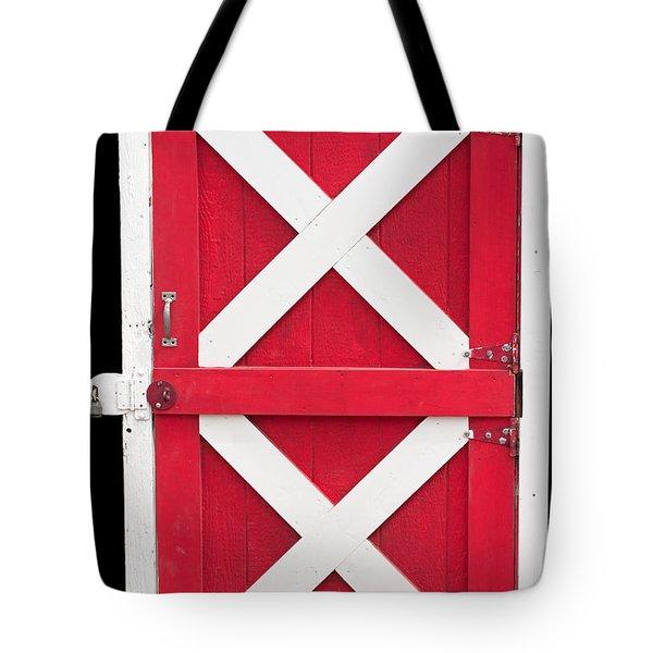 Tote Bag featuring the photograph Barn Door by Gunter Nezhoda