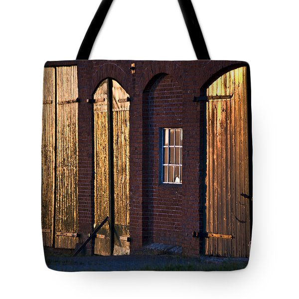 Barn Door Lighting Tote Bag by Heiko Koehrer-Wagner