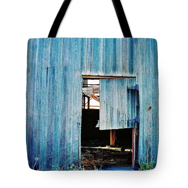 Tote Bag featuring the photograph Barn Door... Monroe Co. Michigan by Daniel Thompson