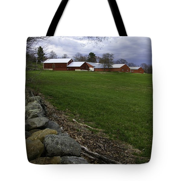 Tote Bag featuring the photograph Barn In Rural New Hampshire by Betty Denise