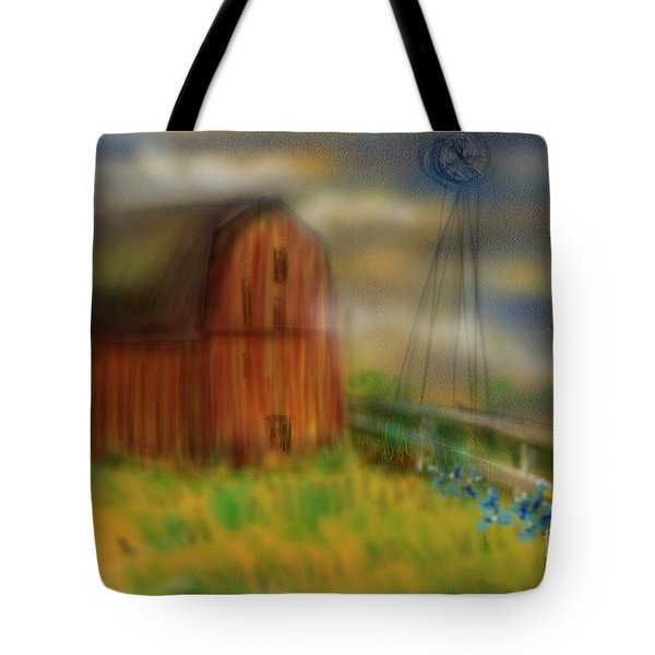 Barn Tote Bag by Marisela Mungia